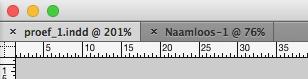 Snel wisselen tussen meerdere tabs in Adobe InDesign